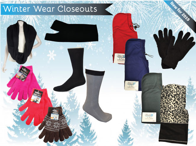 Jump to our Wholesale Winter Wear Closeouts